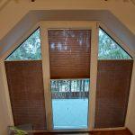 Plisy - okno w kształcie trapezu
