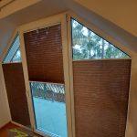 Plisy w oknach w kształcie trapezu