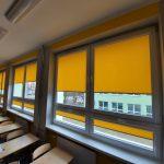 Żółte rolety materiałowe